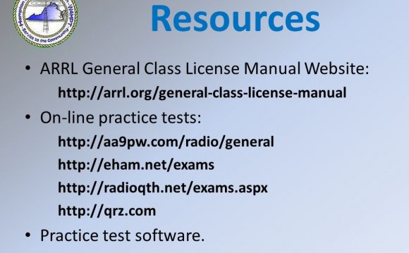 Resources ARRL General Class