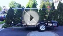 Amateur Radio tilt-over antenna trailer fabrication stage 1